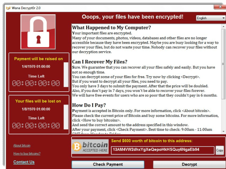 WannaCry ransomware. What you need to know to protect yourself.