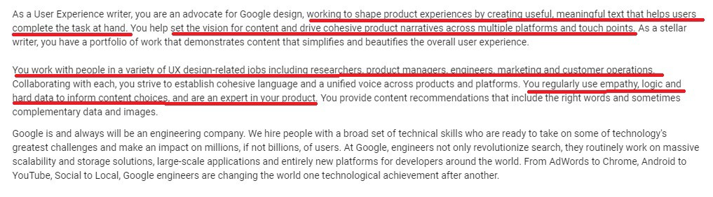 Ux Designer Job Description | Are Ux Writers Same As Copy Writers Ux Planet