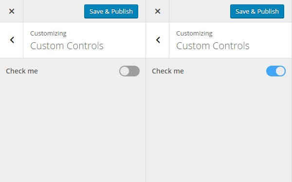 Custom checkbox control