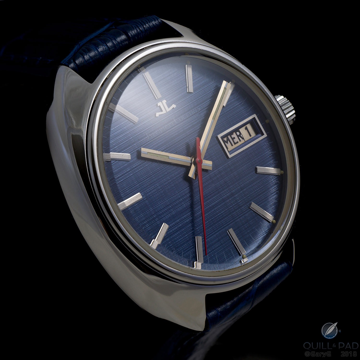 Parting shot: Jaeger-LeCoultre Caliber 906 prototype with blue dial