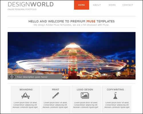 Free And Premium Responsive Adobe Muse Templates 56 Pixels Medium