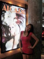 Crissy at Alcazar Cabaret, one of Pattaya's famous ladyboy shows. Well, when you're with the best-looking girl in the place...