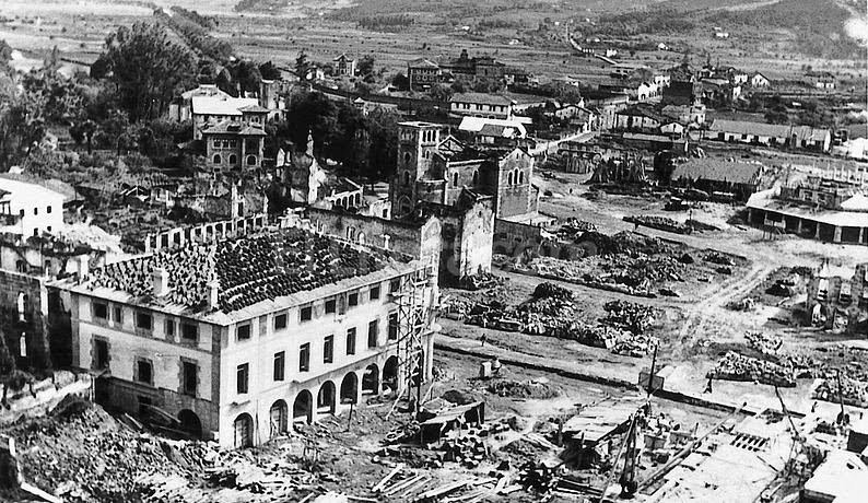 Guernica after the bombardment of Nazi in 1937