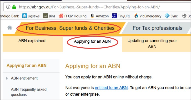 Whether You Ve Never Had An Abn Before Or Want To Reactivate Old One This Part Of The Process Is Same If Re A Sole Trader Have Click