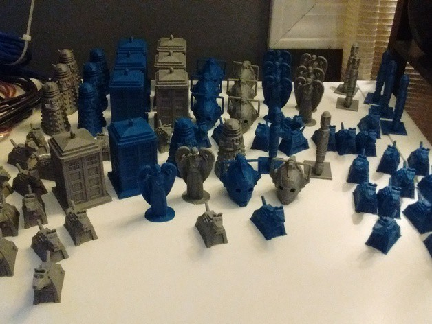 Doctor Who Chess Set Thingiverse