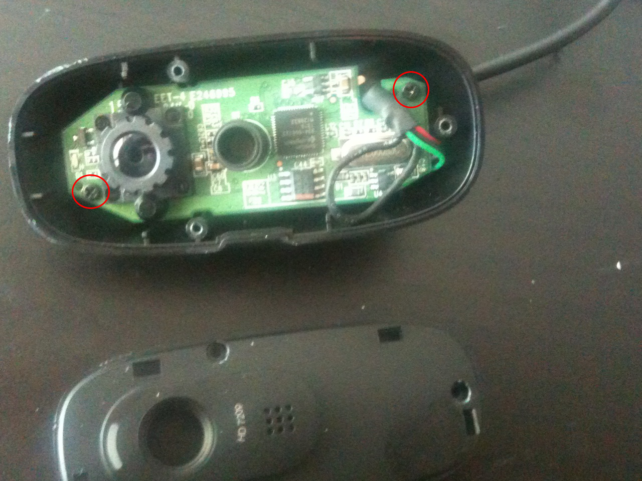 How To Make A Diy Home Alarm System With Raspberry Pi And Webcam Logitech C270 Remove The Two Screws That Hold Camera Board Case