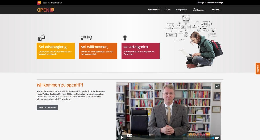 A massive list of free online university course providers from openhpi is a mooc platform hosted by hasso plattner institute hpi in potsdam germany it offers courses in english and german ccuart Gallery