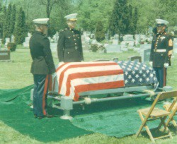image of PFC Kelly's 2nd funeral 1968