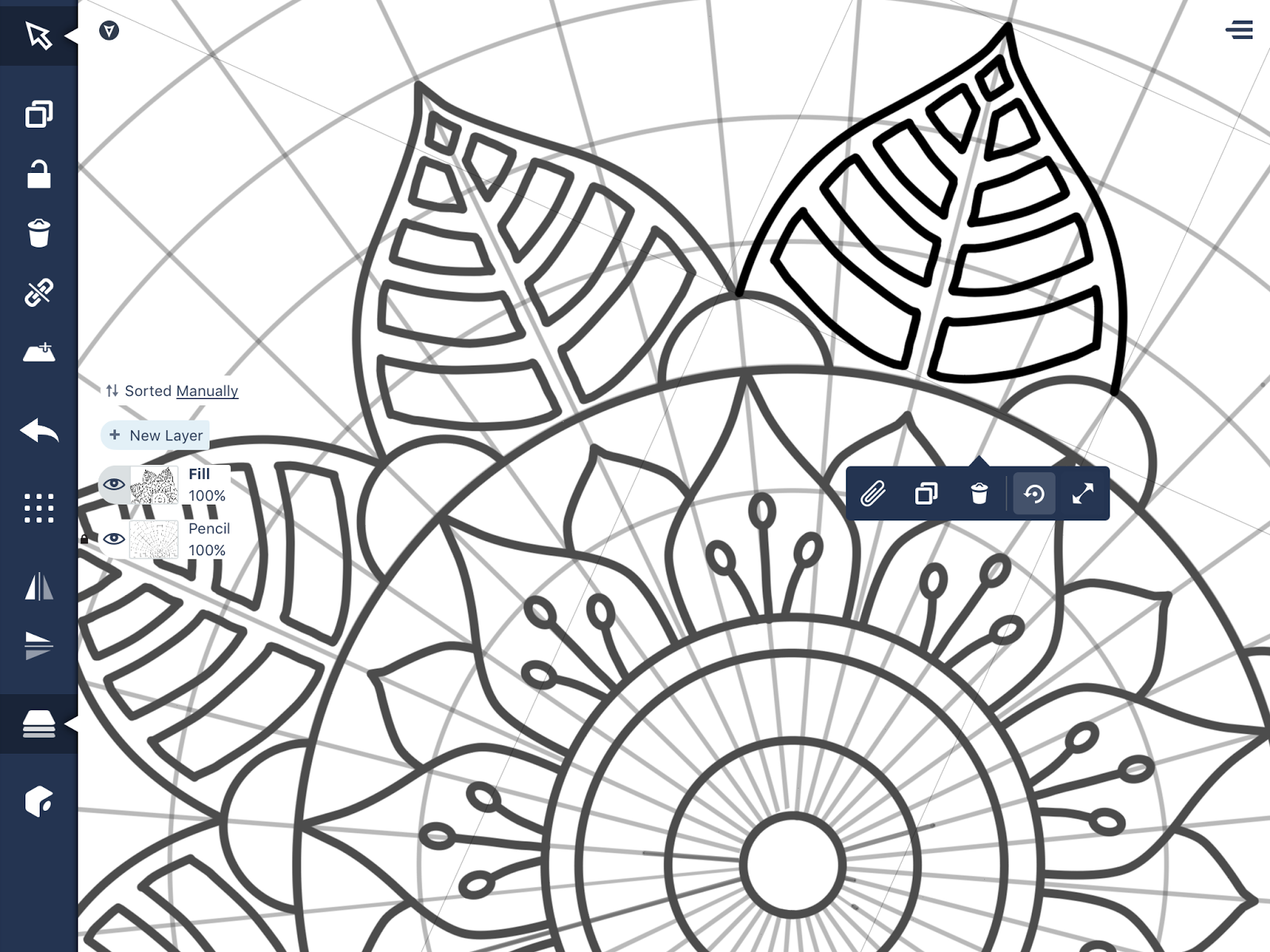 When Duplicating Sections Of Your Mandala Make Sure The Stretch Scale Button Is Turned Off