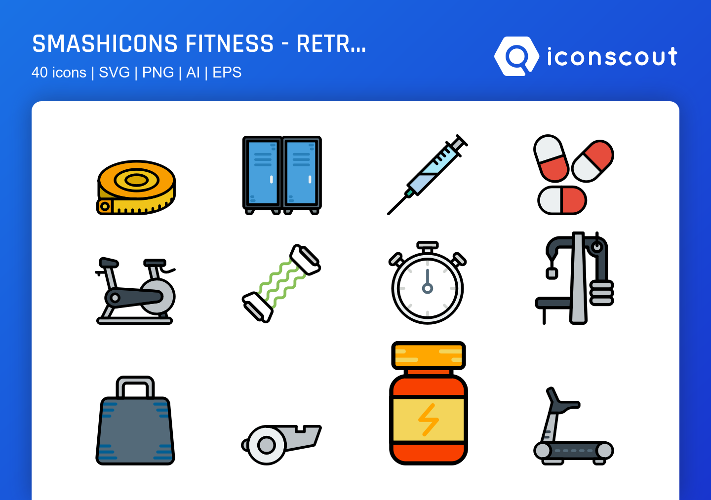 Smashicons Fitness - Retro icons by Smashicons .
