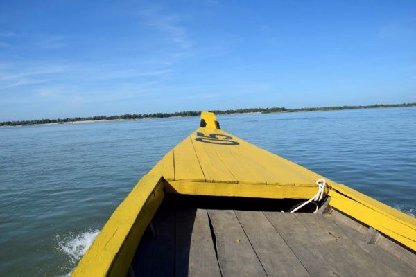 Cambodia Kratie Irrawaddy Dolphin Boat by A View from the Balcony