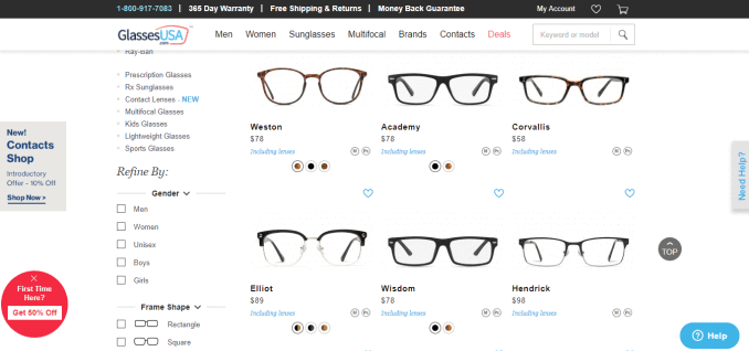 f3d5182fcc Prices start at  48 including prescription lenses and shipping. They offer  a one-year guarantee on all glasses  ...