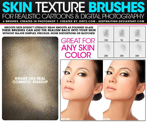 skin texture photoshop brushes