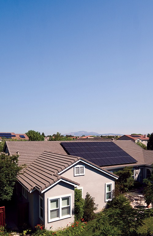 Sungevity designs solar systems, such as the one installed in the Bay Area in Northern California, using satellite images in lieu of a physical visit from a representative. Photo by Maku