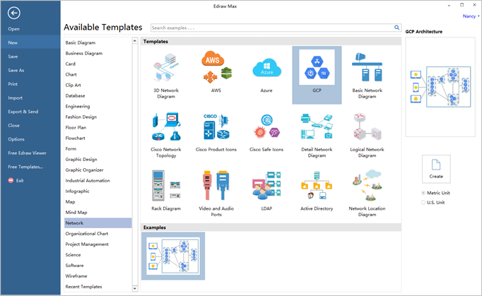 How to create a google cloud platform diagram olivia camp medium you can see a list of pre set templates in the available templates library you can double click one of them to add to a new drawing canvas in your user ccuart Image collections