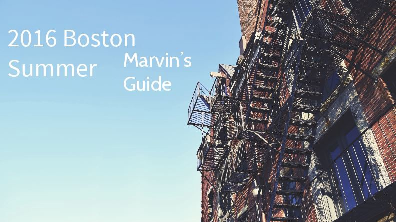 The summer guide I put together for my husband, Marvin