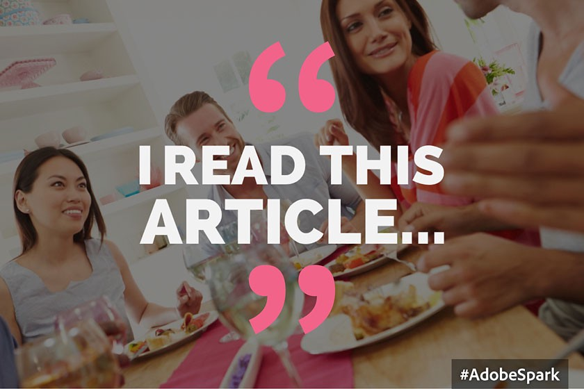 I read an article...
