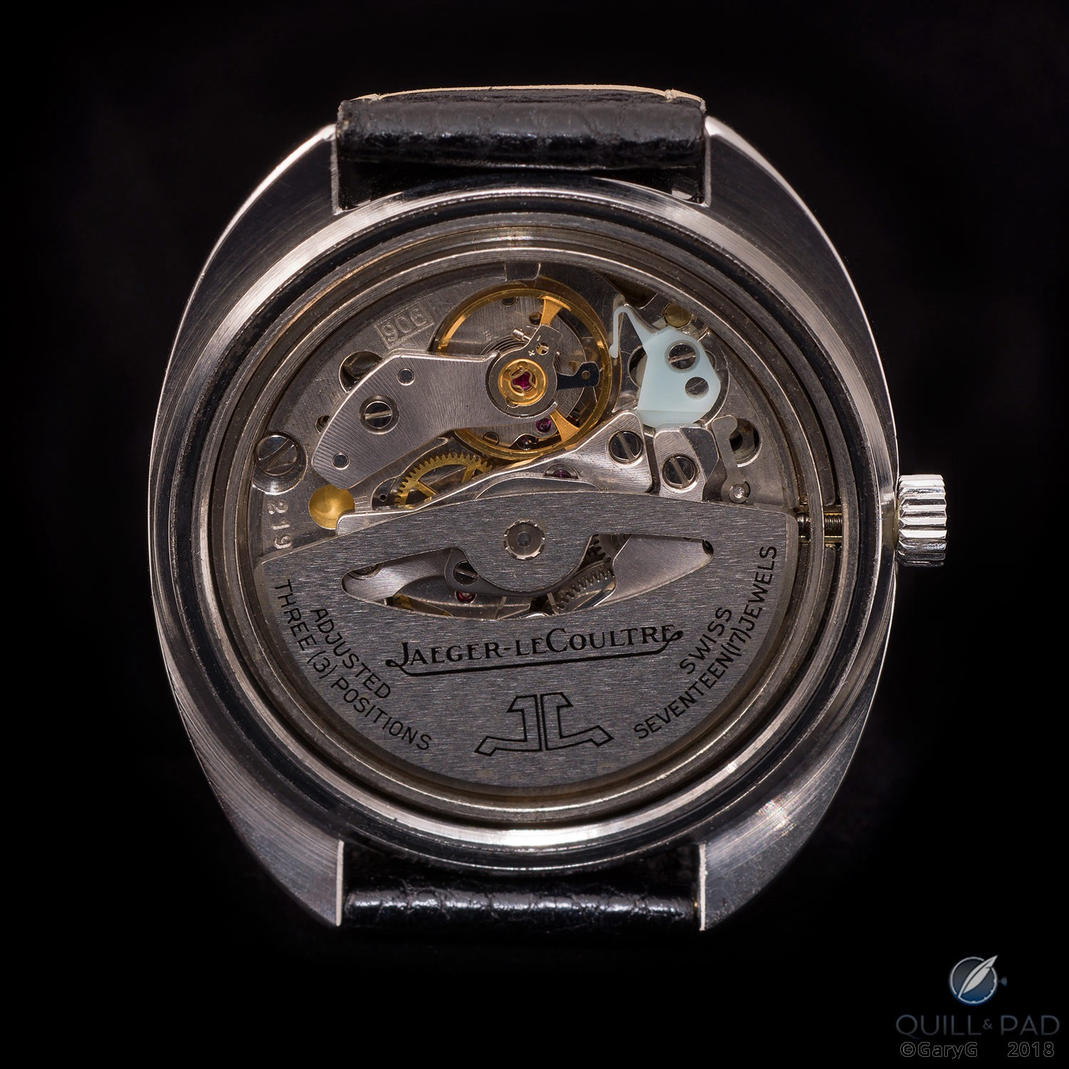 Jaeger-LeCoultre Caliber 906 with hacking mechanism visible at upper right