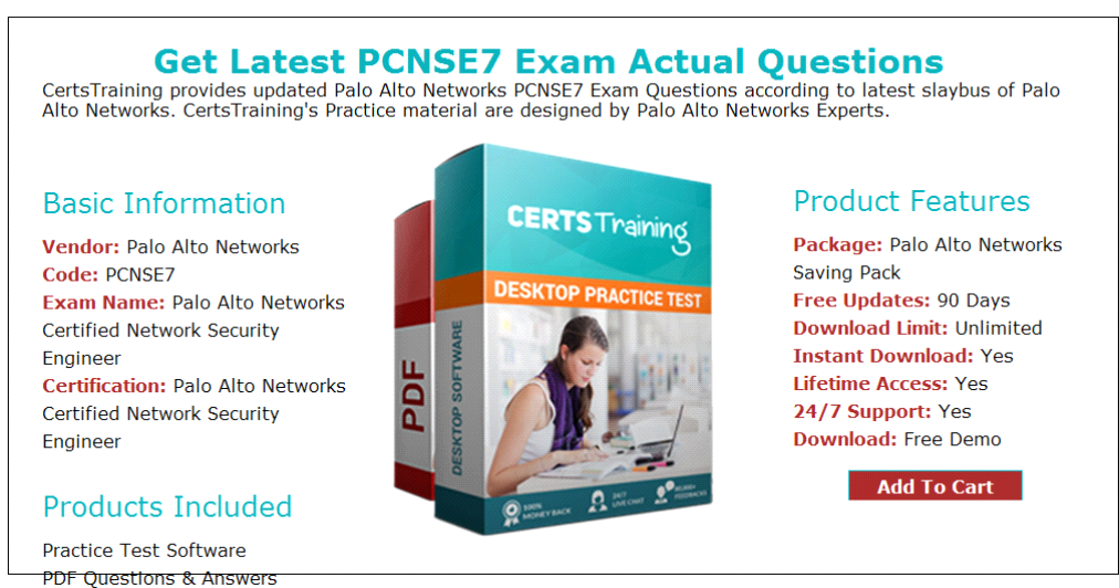Up-to-Date Palo Alto Networks PCNSE7 Exam Questions for Guaranteed ...