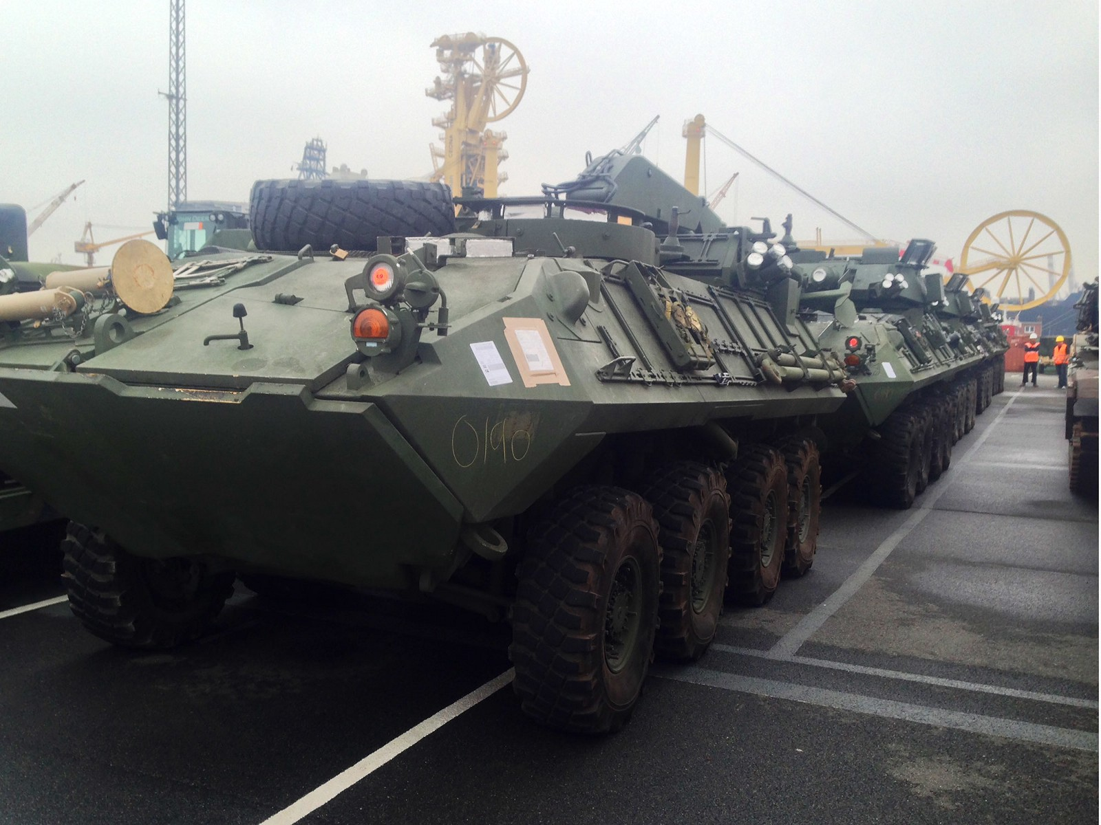 Above-U.S. Marine Corps LAV-R and LAV-25 vehicles on their way to Bulgaria. At top-an M-1 tank belonging to the new task force. Marine Corps photos