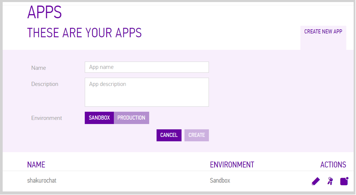 1 Register A Sinch Developer Account At Signup 2 Set Up New Application Using The Dashboard Where You Can Then Obtain An