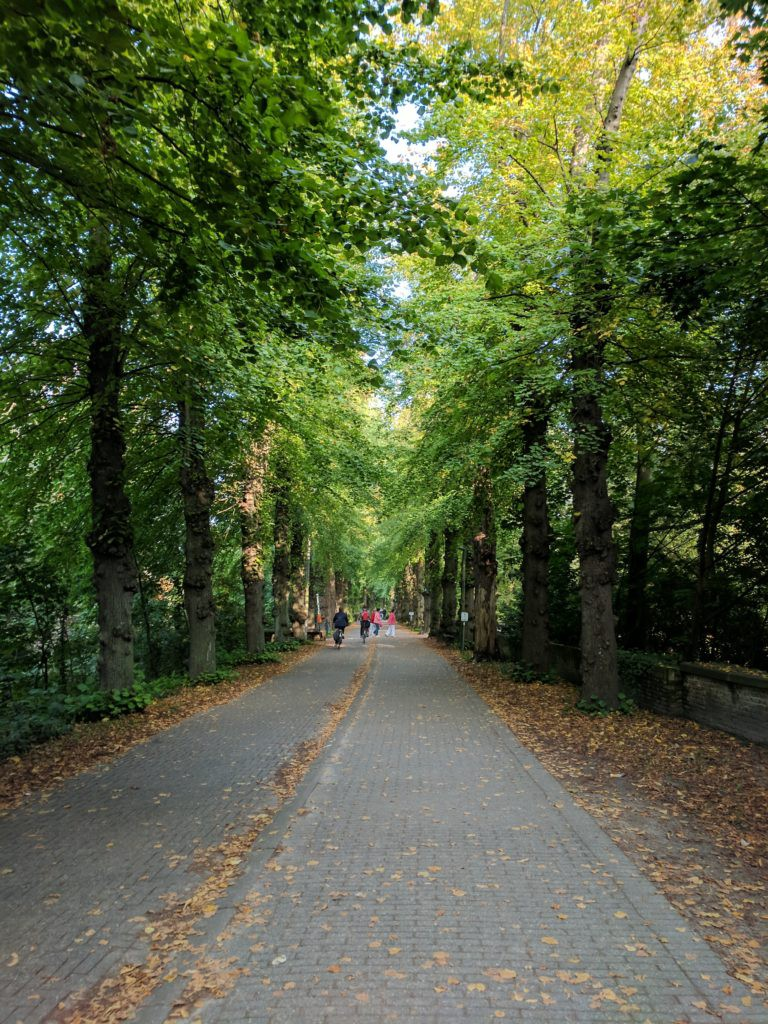 One of the parks in Bruges