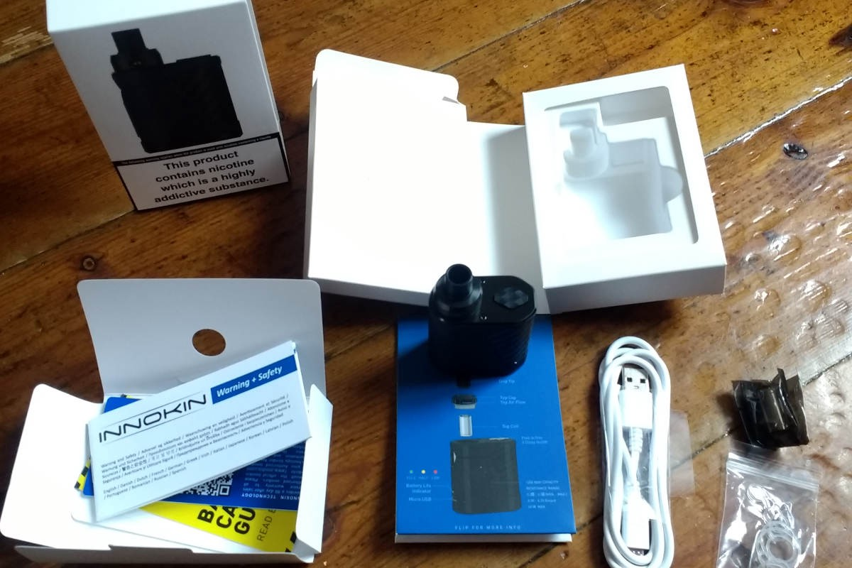 Innokin Pocketbox Review Box Contents