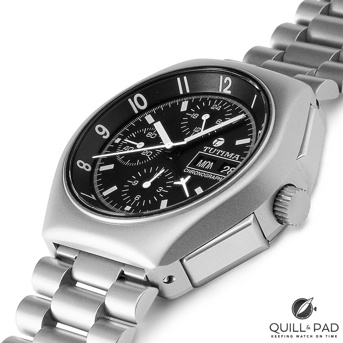 Tutima's legendary Reference 798, a military chronograph that became the official pilot's watch of NATO in 1984