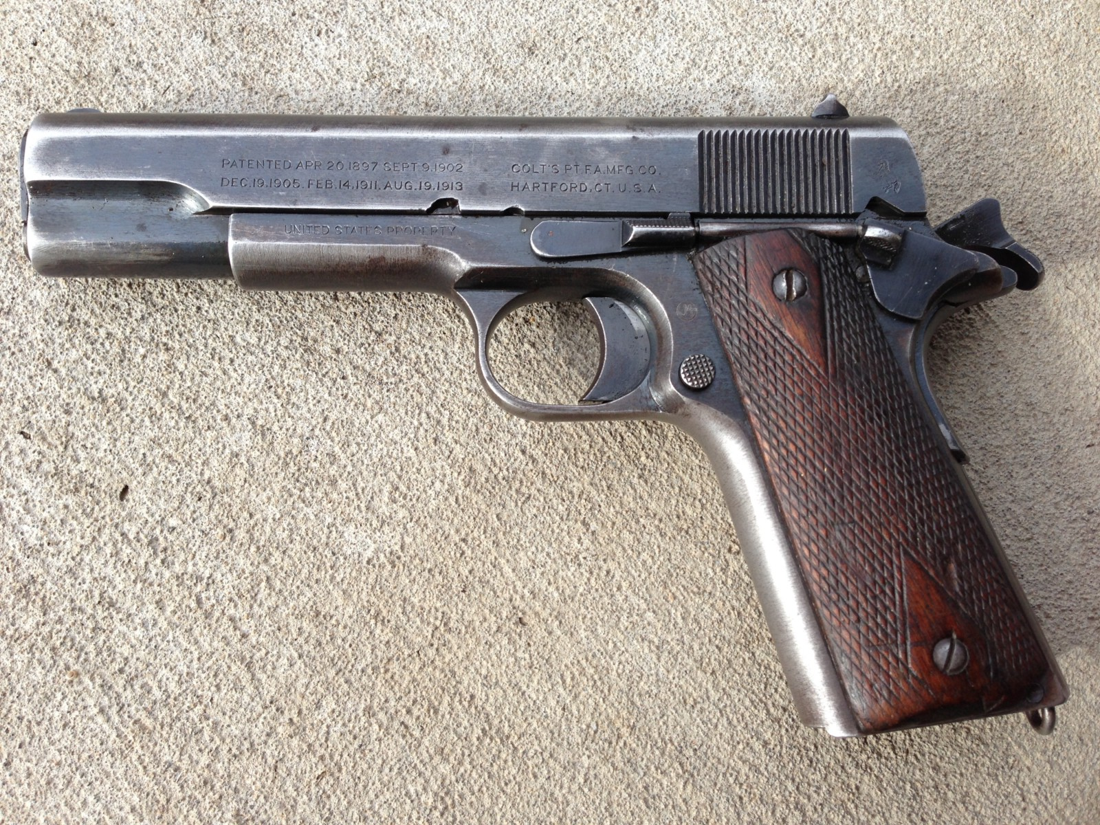 Original 1911 pistol. Kyle mizokami photo