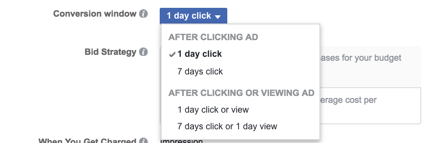 Once You Hit The Drop Down Menu Ll Notice That There Are Two Categories After Clicking An Ad And Or Viewing Under