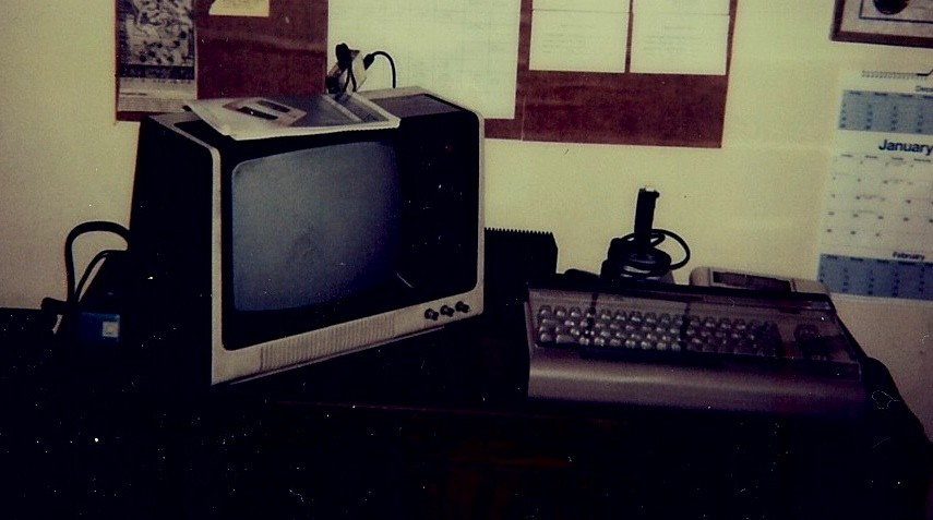 My first computer, a Commodore 64