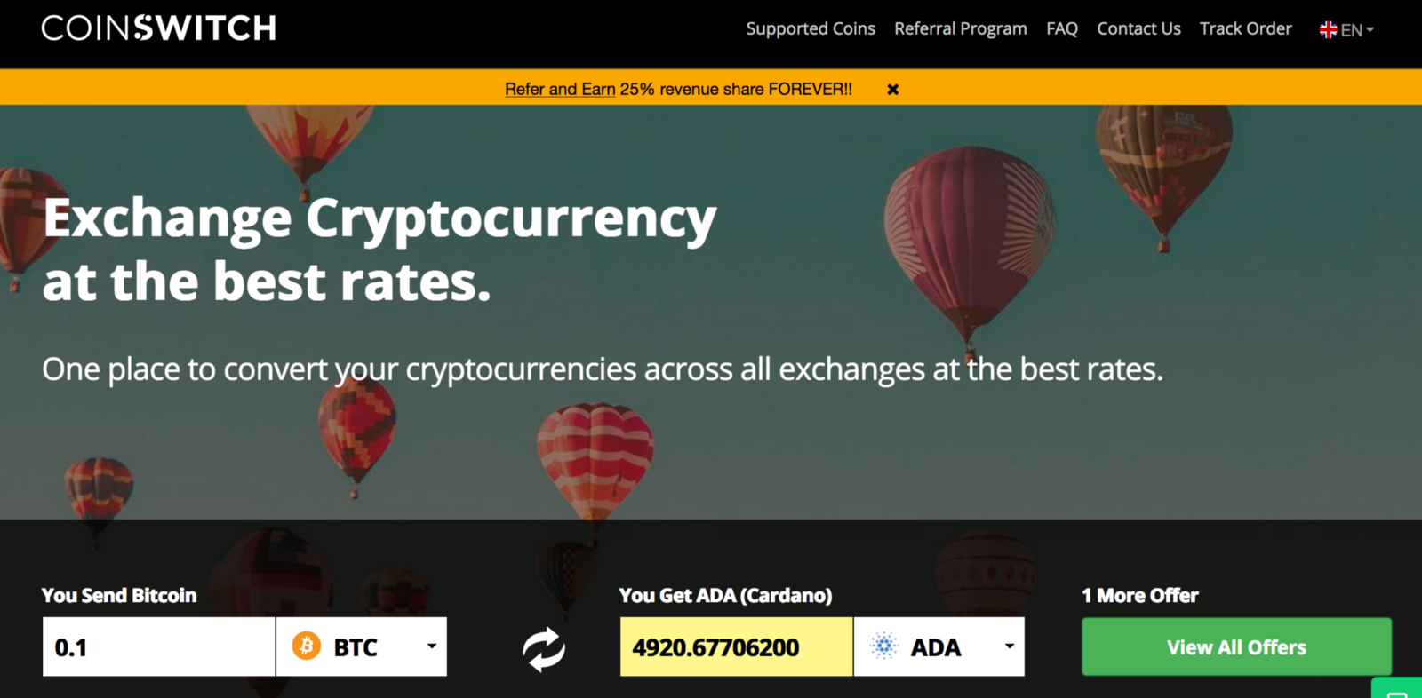 How to buy cardano ada on coinswitch coinswitch here you will see the list of all exchanges with cardano ada quantity they are offering choose the best exchange to convert bitcoin btc to cardano ccuart Gallery