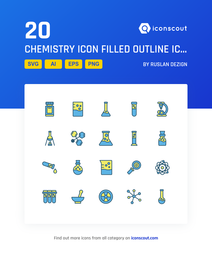 Chemistry Icon Filled Outline icons by Ruslan Dezign