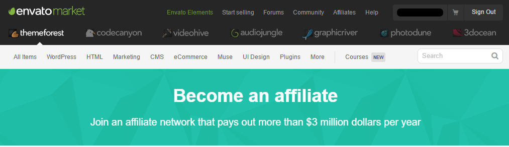 become an affiliate themeforest