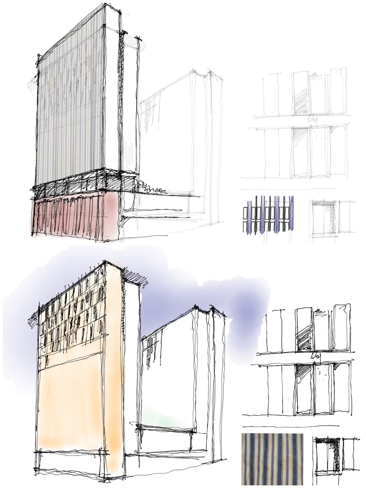 Some Development Sketches For Two 23 Storey Residential Towers In Salford