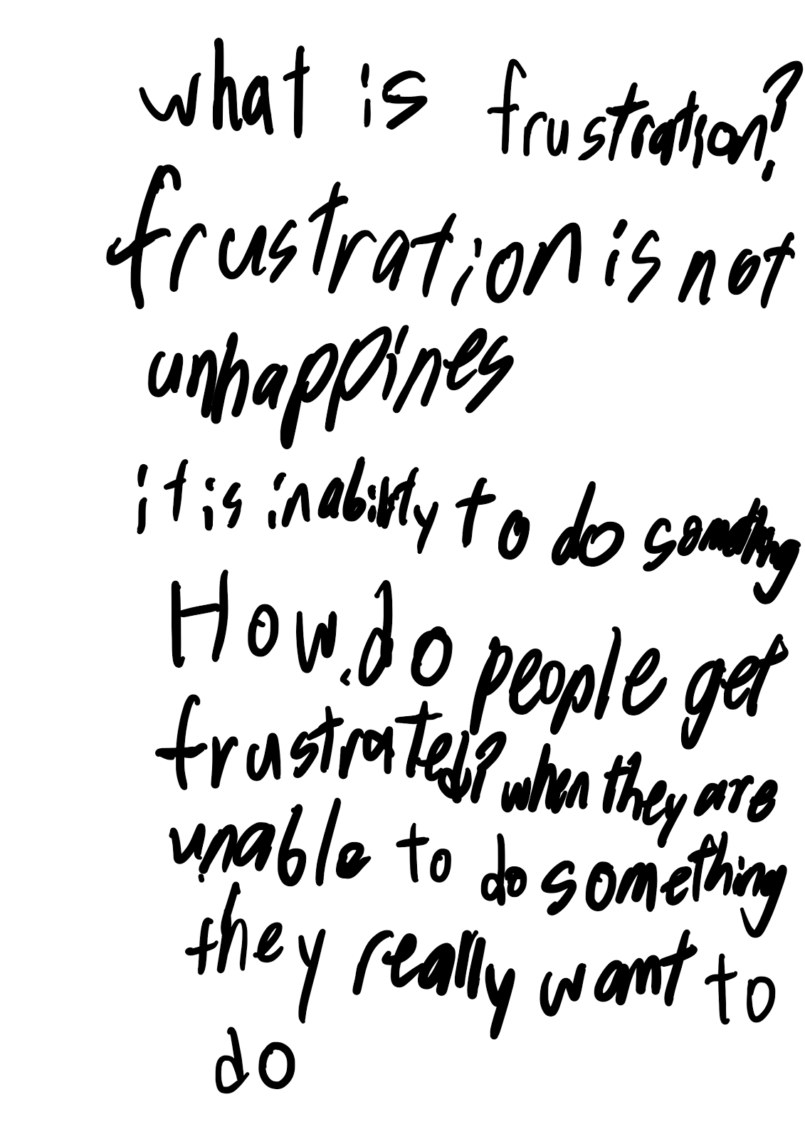 What is frustration? 27