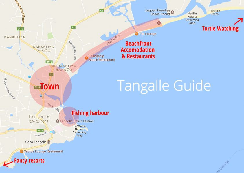 Tangalle Map Guide