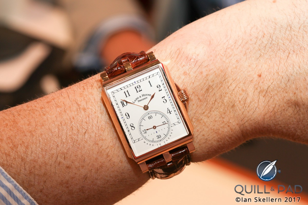 Lang & Heyne Georg in red gold on the wrist