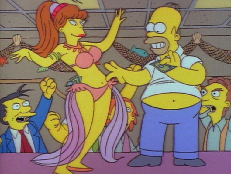 Bart Snaps Homer In A Compromising Position In 'Homer's Night Out'