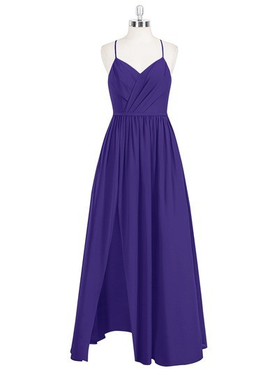 4e55aab81f5 Regency Azazie Cora — Floor Length Chiffon V Neck Back Zip
