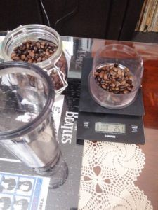 25g of coffee beans