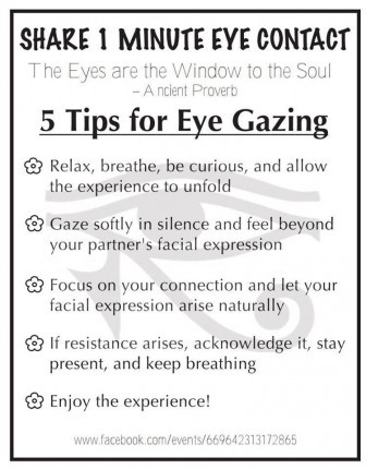 Tips for Eye Contact Experiment
