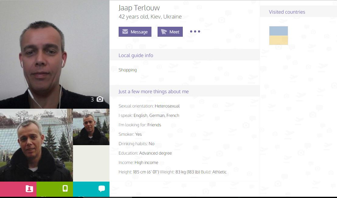 TourBar Dating Profile of Jaap Terlouw