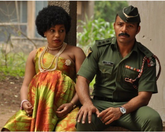 '76, formerly Lions of '76, is a 2016 Nigerian historical fiction drama film produced by Adonaijah Owiriwa and Izu Ojukwu and directed by Izu Ojukwu. It stars Ramsey Nouah, Chidi Mokeme, Rita Dominic and Ibinabo Fiberesima. Set six years after the civil war, a young officer from the Middle Belt gets into a romantic relationship with an O-level student from the South-eastern region. However, their relationship is strained by constant military postings. The soldier gets accused of being involved in the 1976 unsuccessful military coup and assassination of General Murtala Mohammed, and the heavily pregnant wife, gets entangled in an emotional dilemma. The historical account in '76 went through a seven-month approval period at the Nigerian Military before filming started. The film which is set in the '70s was shot in Ibadan, Oyo. The film has been in production for about five years. The movie according to Film-one distribution has made about 72 million Naira since its release to cinemas across the country, it also a top nominee for the 2017 edition of the prestigious Africa Magic Viewers' Choice Awards (AMVCAs).