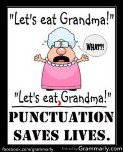 copywriting punctuation saves lives