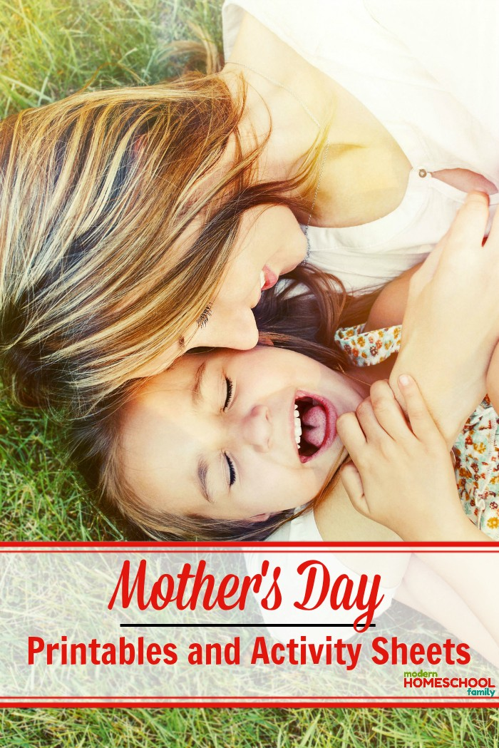 Mother's Day Printables and Activity Sheets - PF