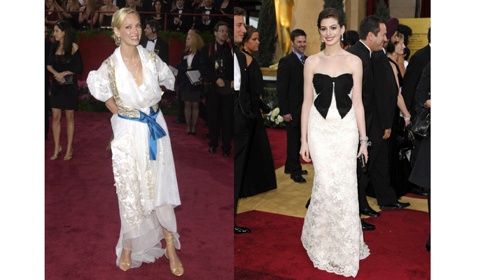 uma thurman and anne hathway worst dressed oscars