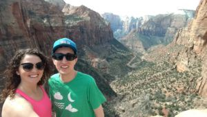 Collin & I on top of the East Canyon Overlook in Zion National Park