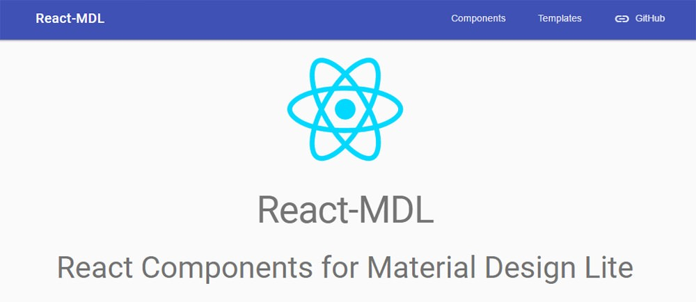 react mdl homepage