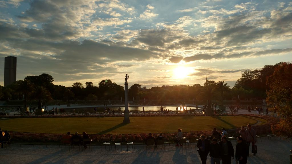 Sunset in Jardin du Luxembourg